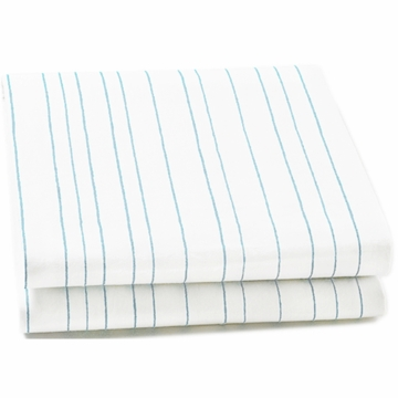 Auggie Twin Fitted Sheet in Painted Stripe Cornflower