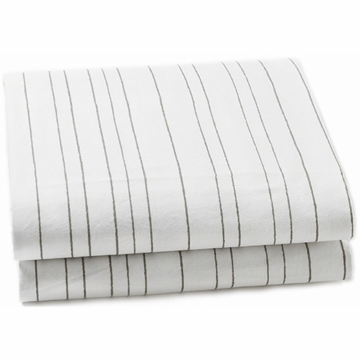 Auggie Twin Fitted Sheet in Painted Stripe Grey