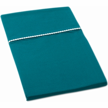 Auggie Twin Fitted Sheet in Solid Ocean