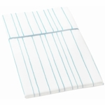 Auggie Twin Flat Sheet in Painted Stripe Cornflower