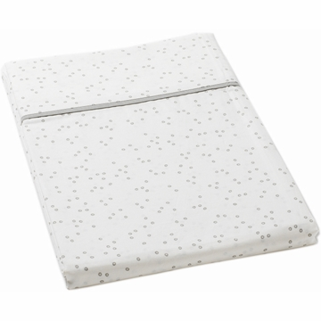 Auggie Twin Flat Sheet in Pebble Grey