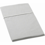 Auggie Twin Flat Sheet in Solid Grey