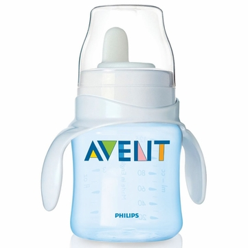 Avent 4 oz Bottle to First Trainer Cup - Blue