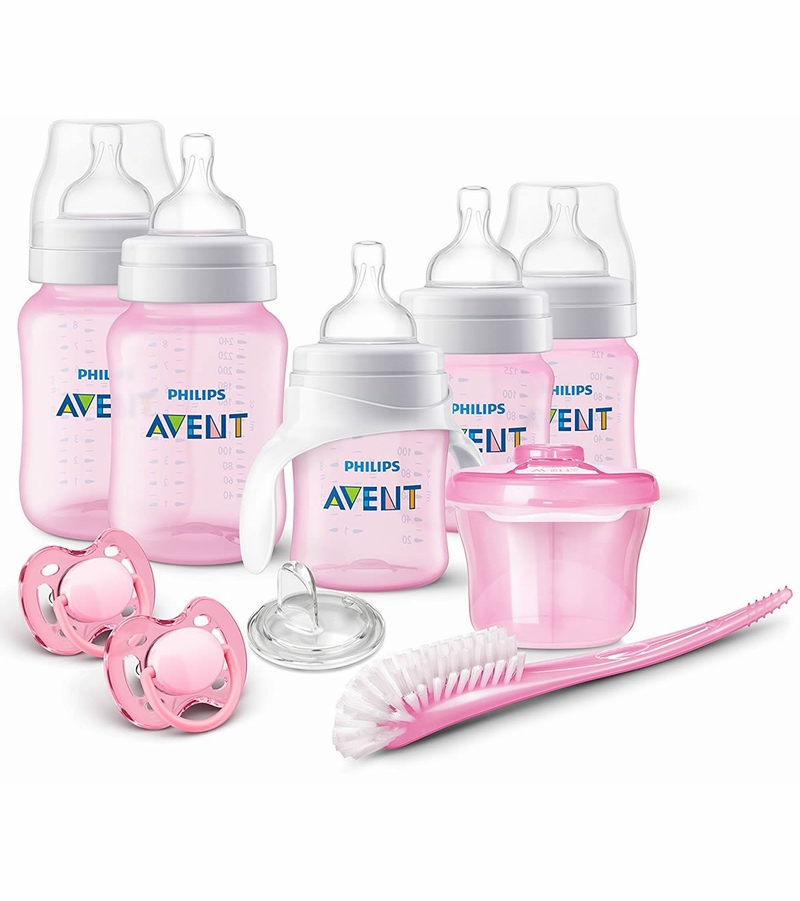 Avent Anti Colic Bottle Gift Set Pink