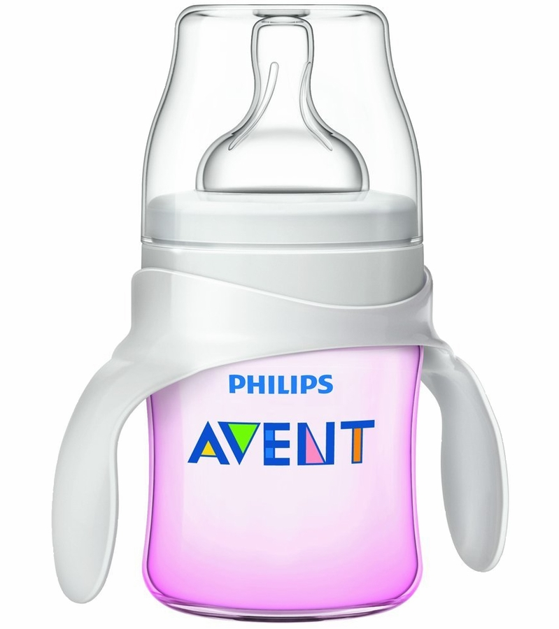 Avent Bottle To Cup Trainer Kit In Pink