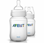 Avent Classic Feeding Bottles - 9oz PP Twin (BPA-Free)