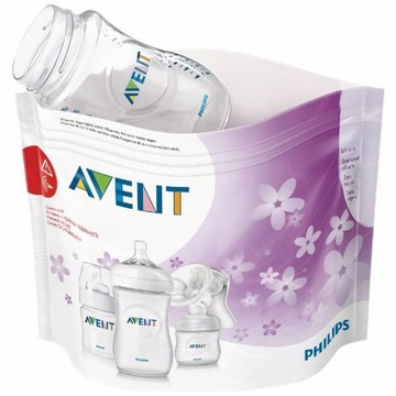Avent Microwave Sterilizing Bags, 5 count
