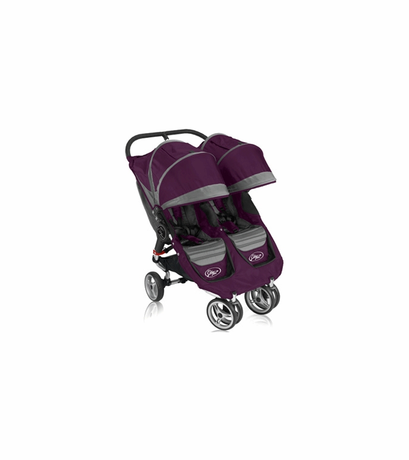 Baby Jogger 2011 City Mini Double In Purple Gray