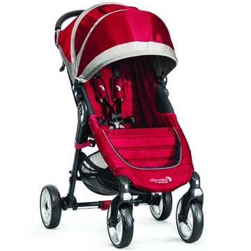 Baby Jogger 2014 City Mini 4-Wheel Stroller - Crimson/Gray