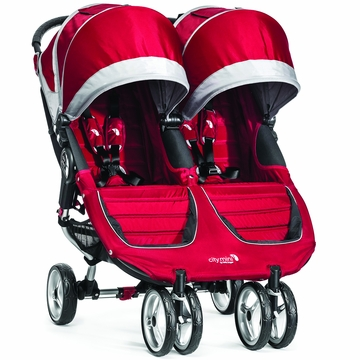 Baby Jogger 2014 City Mini Double - Crimson/Gray