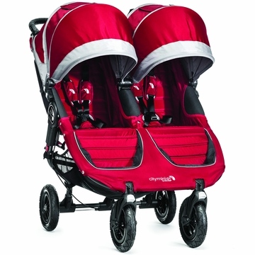 Baby Jogger 2014 City Mini GT Double - Crimson/Gray