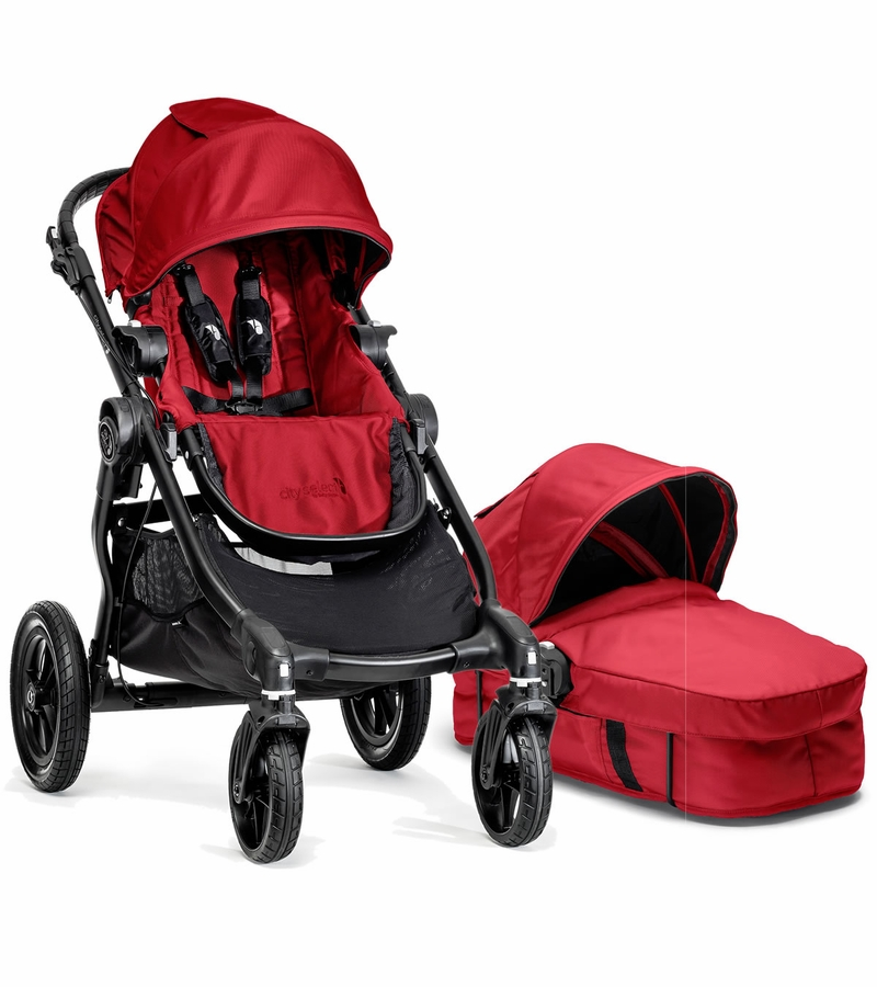 Baby Jogger City Select Stroller & Bassinet - Red
