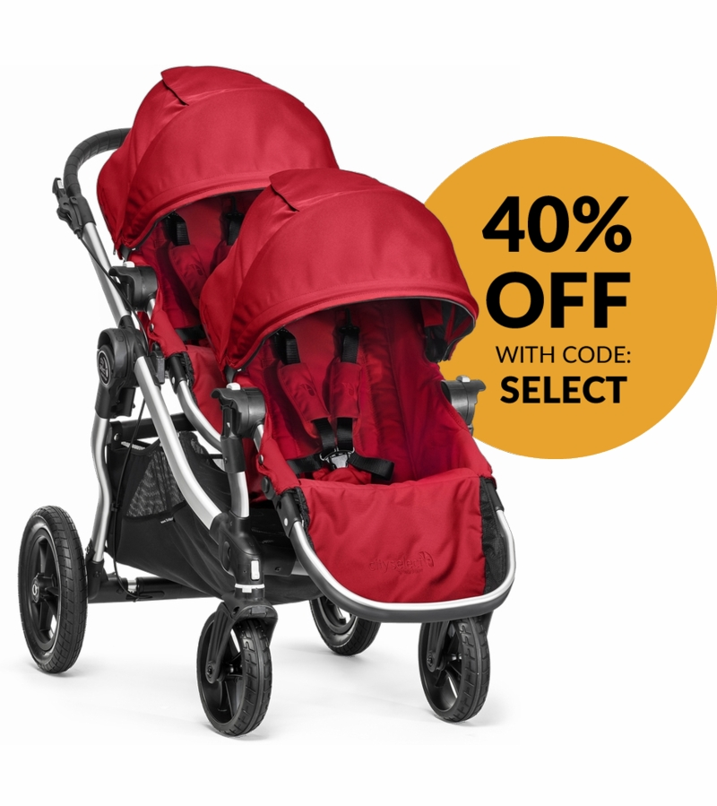Baby Jogger 2015 City Select Double Stroller - Ruby