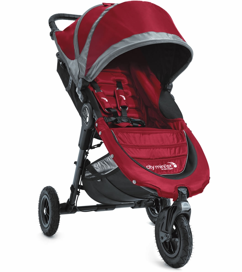Baby Jogger City Mini Gt Single 2016 Stroller Crimson Gray