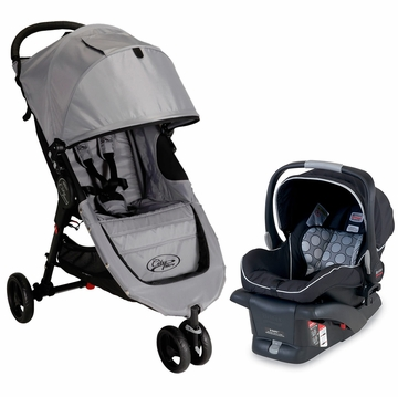 Baby Jogger City Micro & Britax B-Safe Travel System - Grey/Black