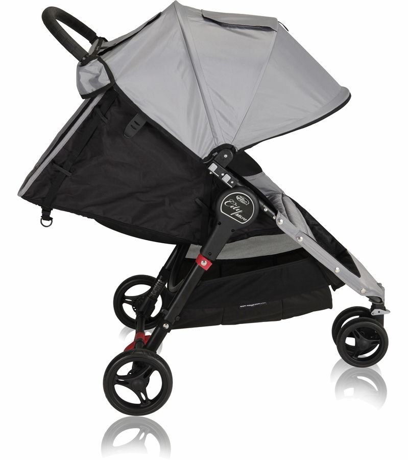 Baby Jogger City Micro Single Stroller In Grey Black