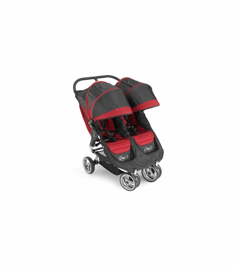 Baby Jogger City Mini Double 2009 Red/Black
