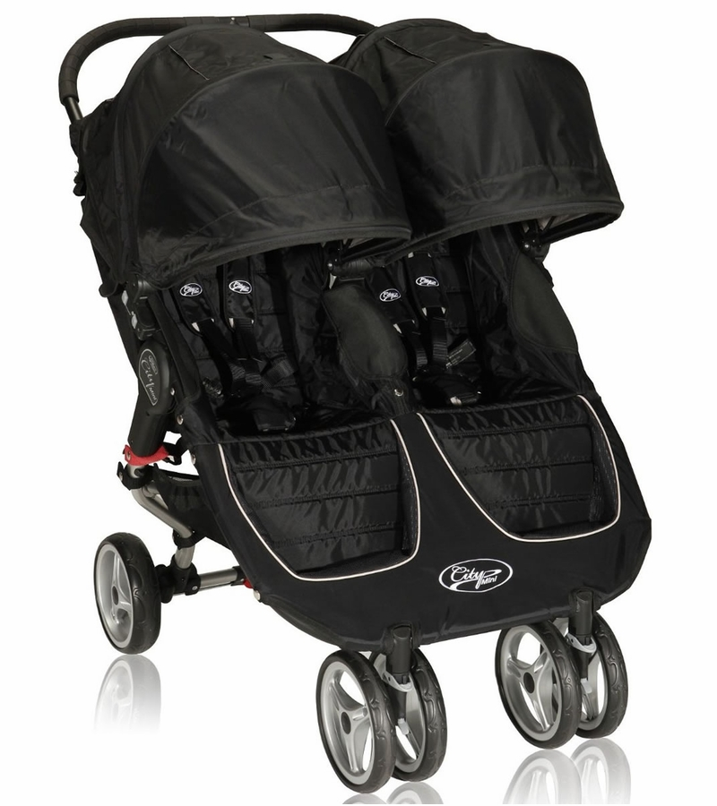 Baby Jogger City Mini Double 2013 Stroller Black Gray