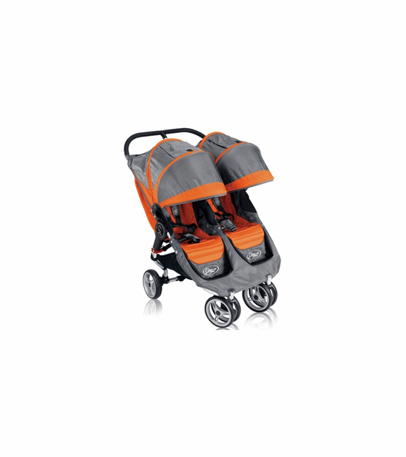 Baby Jogger City Mini Double 2013 Stroller In Orange Gray