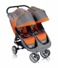 Baby Jogger City Mini Double 2013 Stroller in Orange/Gray