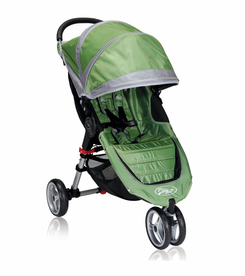 Baby Jogger City Mini Single 2013 Stroller Green Gray