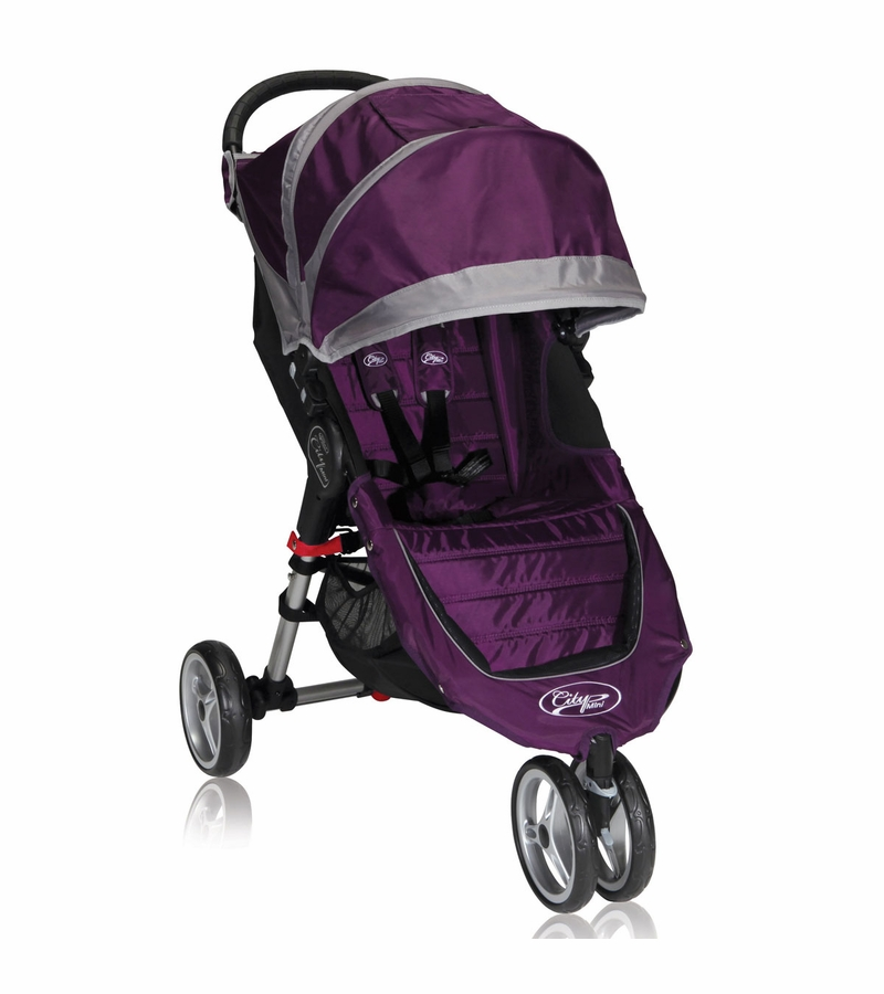 Baby Jogger City Mini Single 2013 Stroller Purple Gray
