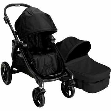 Baby Jogger City Select Stroller with Bassinet Kit in Black/Onyx