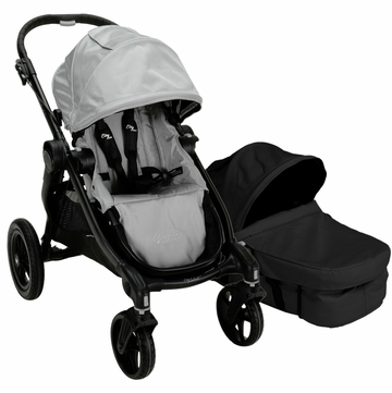 Baby Jogger City Select Stroller with Bassinet Kit in Silver/Onyx
