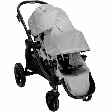 Baby Jogger City Select Stroller with Second Seat Kit in Silver