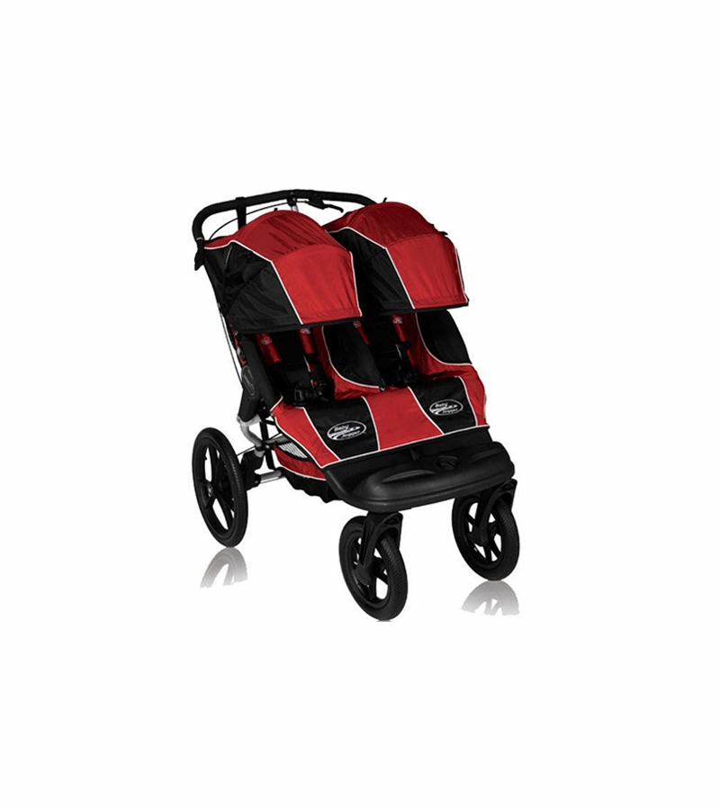 Baby Jogger Summit Xc Double Stroller Jogger Hybrid Red Black