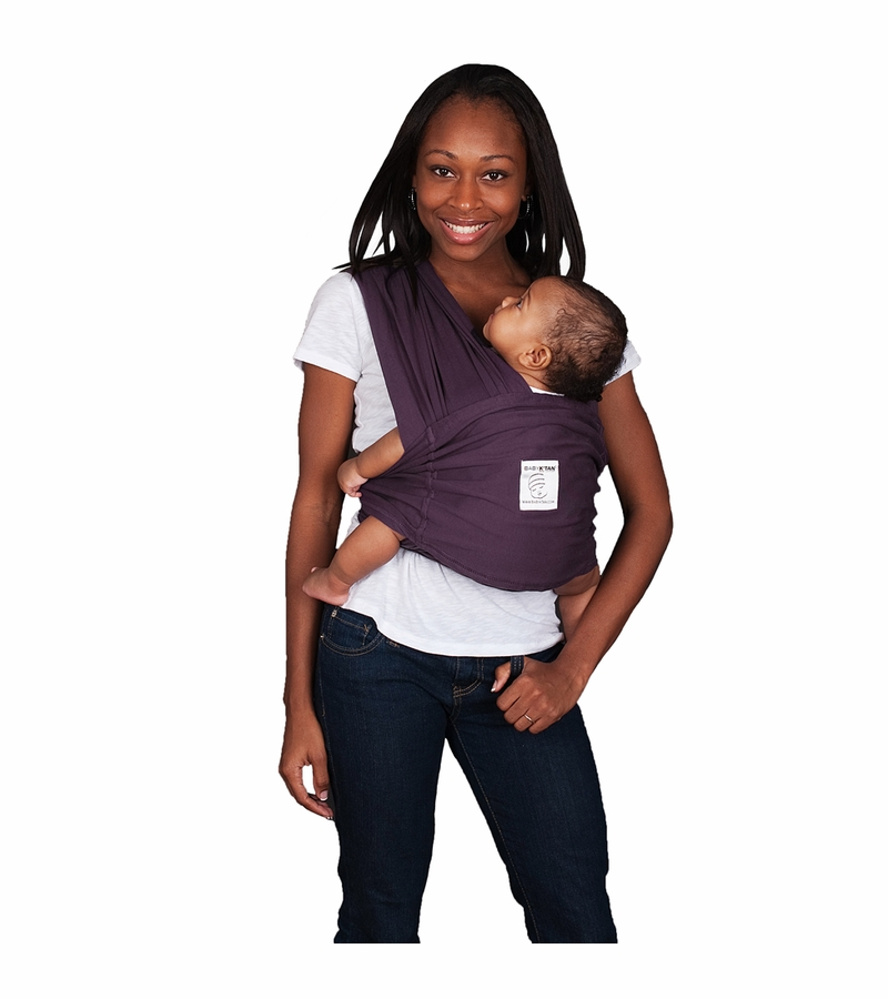 Baby K Tan Baby Carrier In Eggplant Extra Small