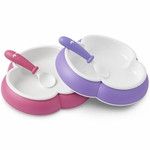BabyBj�rn Plate and Spoon 2 Pack in Purple & Pink