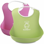 BabyBjörn Soft Bib 2 Pack in Green & Pink