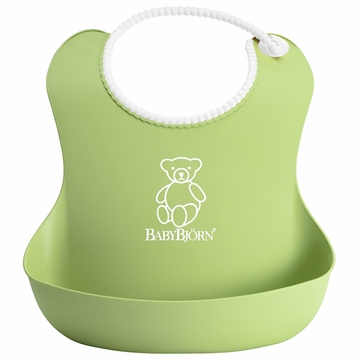 BabyBj�rn Soft Bib in Green