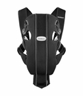 BabyBjorn Original Baby Carrier, Organic - Black & Silver - Ltd Edition