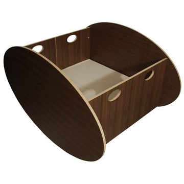 BabyHome So-Ro Twin Cradle in Walnut