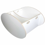 BabyHome So-Ro Twin Cradle in White
