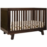 Babyletto Hudson 3-in-1 Convertible Crib w/ Toddler Rail - Espresso