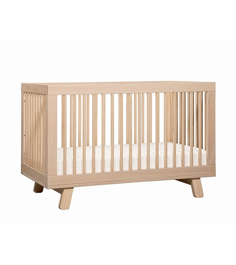 babyletto hudson 3 in 1 convertible crib with toddler bed conversion kit in washed