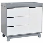 BabyLetto Hudson Changer Dresser in Two-tone Grey/White