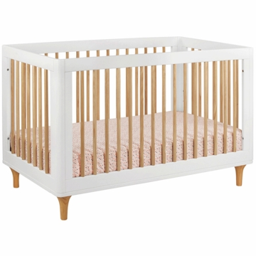BabyLetto Lolly 3-in-1 Convertible Crib in White & Natural