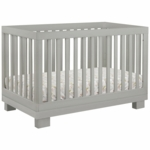 BabyLetto Modo 3-in-1 Convertible Crib with Toddler Rail in Grey