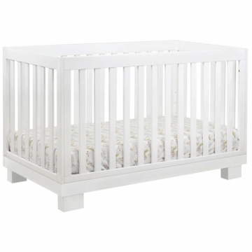 BabyLetto Modo 3-in-1 Convertible Crib with Toddler Rail in White
