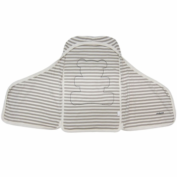 BabyLetto Snuggle Wrap in Taupe Broad Stripe