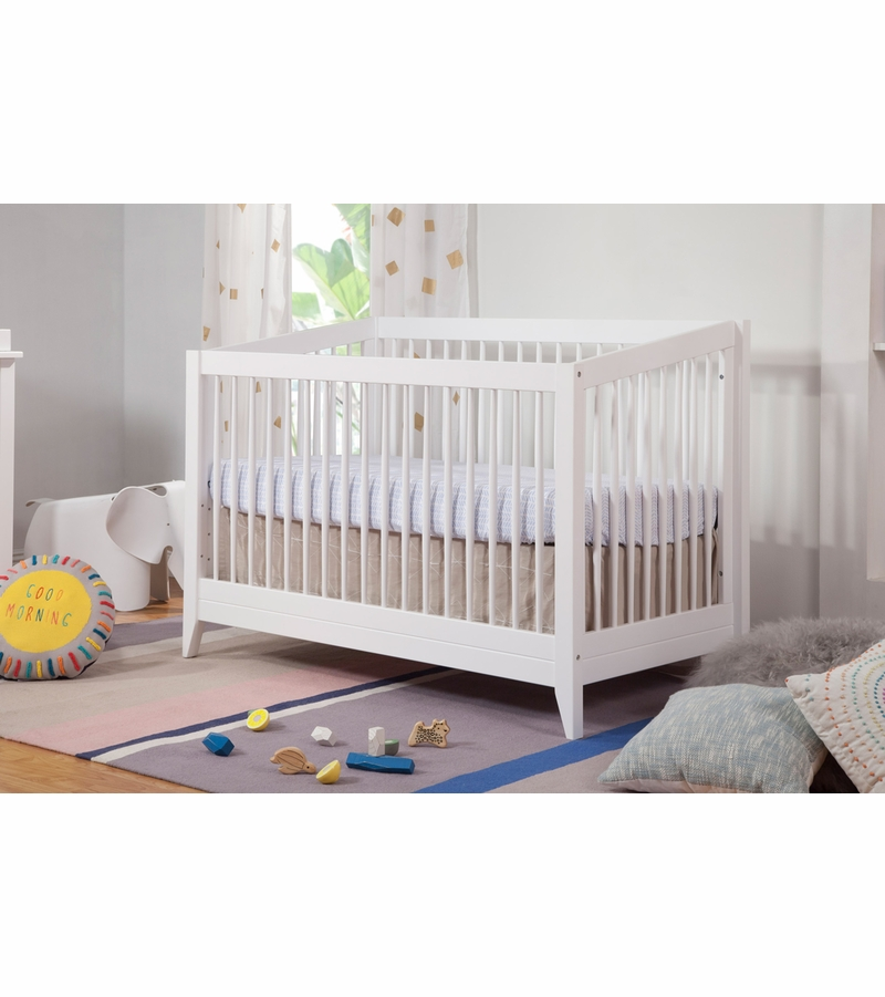 BabyLetto Sprout 4 In 1 Convertible Crib With Toddler Bed
