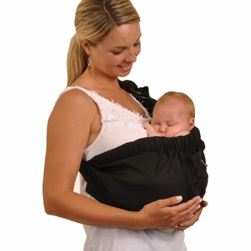 Balboa Baby Adjustable Sling in Signature Black with Embroidery