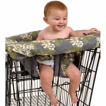 Balboa Baby Shopping Cart Cover in Swirl Grey, Cream & Sage