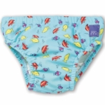 Bambino Mio Swim Nappy Blue Fish- Ex Large (27-34 lbs.)
