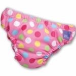 Bambino Mio Swim Nappy Pink Spots- Medium