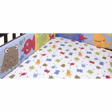 Bananafish Baby Monster Crib Sheet